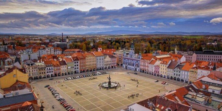 Pobyt pro dva v historickém centru Českých Budějovic: 2-7 nocí se snídaní