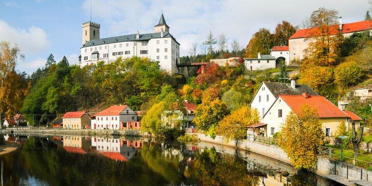 Odpočinkový pobyt v penzionu blízko hradu Rožmberk: polopenze, klid a výlety