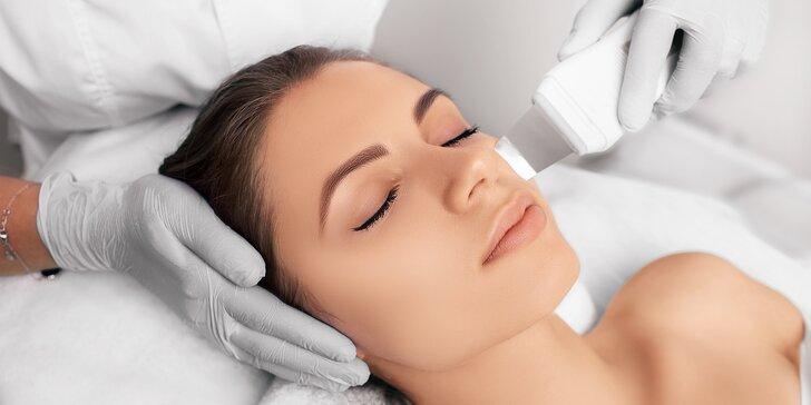 Hýčkejte svou pleť: ošetření ultrazvukovou špachtlí, úprava obočí i kosmetika Ryor