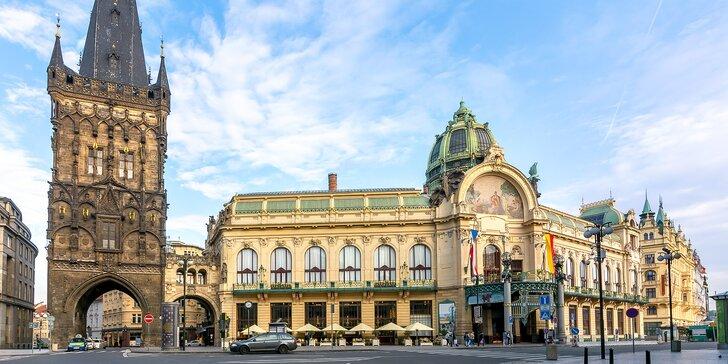 Pobyt v Praze kousek od náměstí Republiky: snídaně i privátní sauna