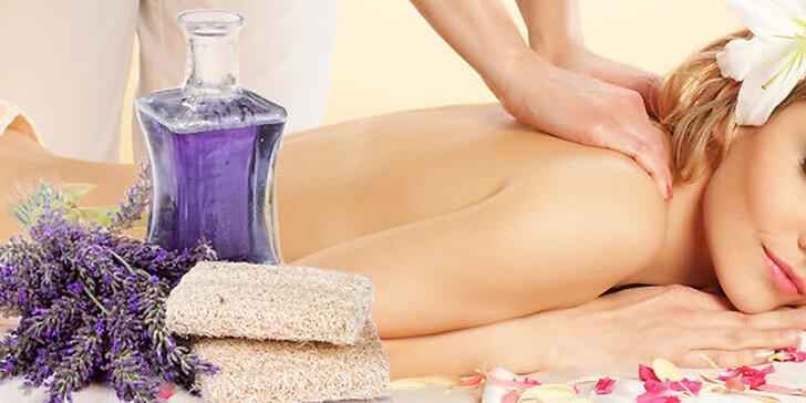 Levandulová nebo zdravotní segmentová masáž v salonu Natanael