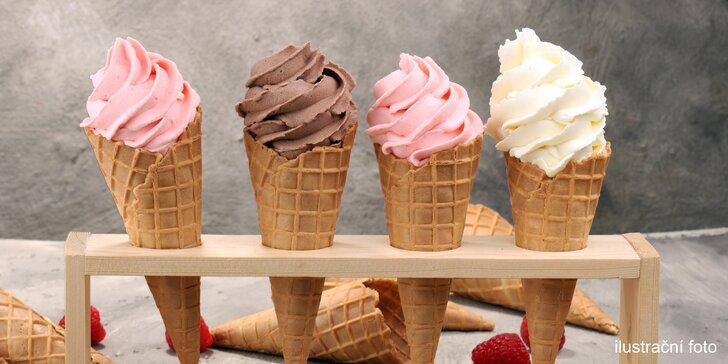 Prima osvěžení: točená zmrzlina do kornoutu či kelímku v centru Plzně