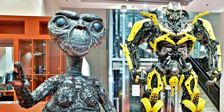 Galerie ocelových figurín: úžasný svět sci-fi, pohádek, komiksů i luxusních aut a sleva na pizzu