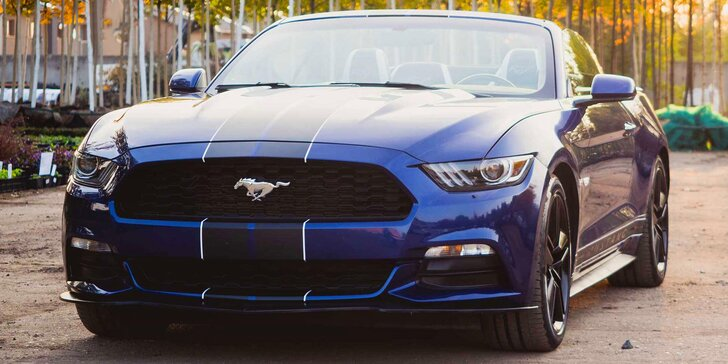 Ford Mustang Cabrio: 15 min. spolujízdy i řízení na 30–45 min. nebo celý den