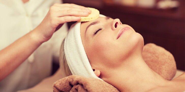 Hloubkové vyživení a omlazení pleti včetně masáže obličeje a krku