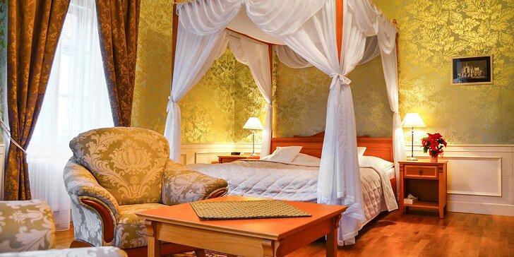 Luxusní pobyt v Zámeckém hotelu Lednice: přímo u zámku a parku, se snídaní