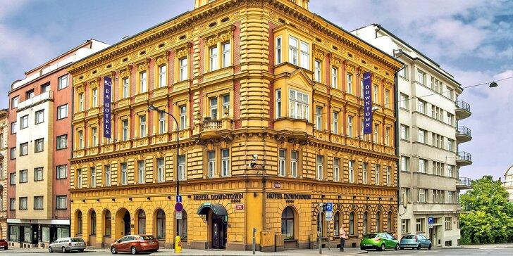 Pobyt ve 4* hotelu v centru Prahy: snídaně, okružní jízda městem i možnost privátního wellness