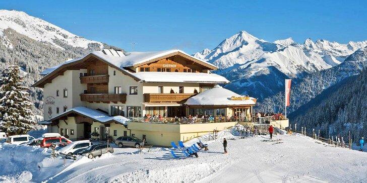 Lyžování u rakouského ledovce Hintertux: hotel u sjezdovky, polopenze i neomezený wellness