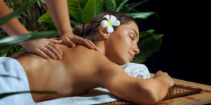 Hodinová masáž na výběr z 8 druhů masáží: např. thajská, zdravotní nebo tajemná