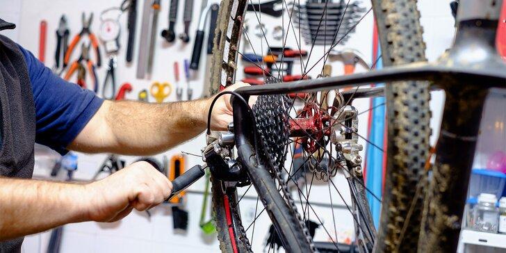 Cykloservis: posezónní kontrola celkového stavu kola, seřízení brzd, přehazovačky a dalších operací.