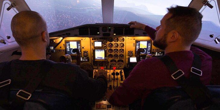 Simulátor letounu L410: pilotování pro jednoho i romantický let pro dva