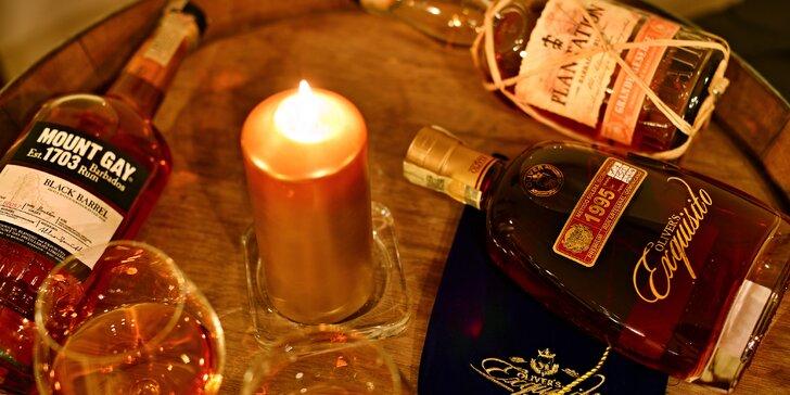 Degustace sedmi výjimečných rumů ve Wine Institute ve Vršovicích pro dva