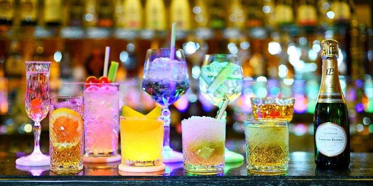 Drinky a drobné občerstvení pro 1 nebo 2 osoby v luxusní restauraci 5* Grand Hotelu Bohemia