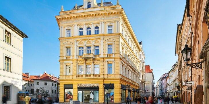 Luxusní zázemí v samém srdci Prahy: 5* hotel, secesní pokoje s připravenou lahvinkou, bohatá snídaně