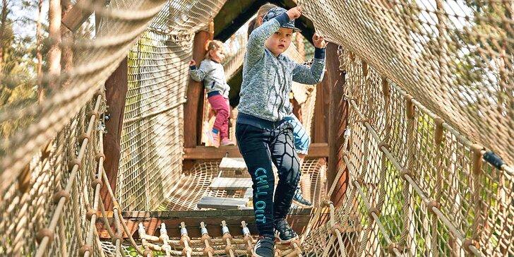 Venkovní zábavní park Krtkův svět: prolézačky, skluzavky, trampolíny i lanové centrum