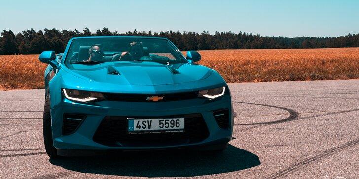 Jízda v Chevroletu Camaro Convertible: spolujízda, řízení i zapůjčení