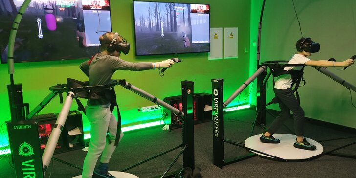 30 min. virtuální reality pro 1 nebo 2 osoby: závodní či pohybové hry