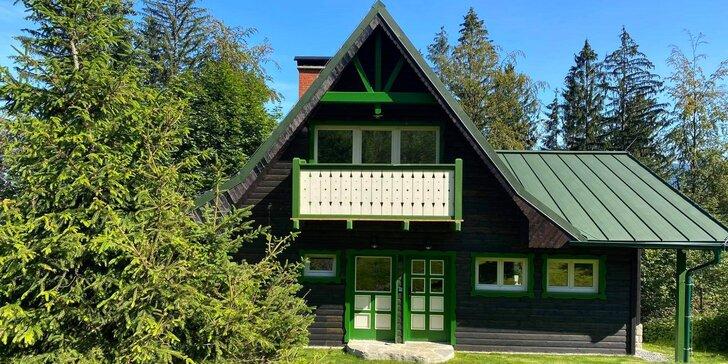 Luxusní chatička pod Lysou horou až pro 6 osob: plná výbava, sauna a vířivka neomezeně