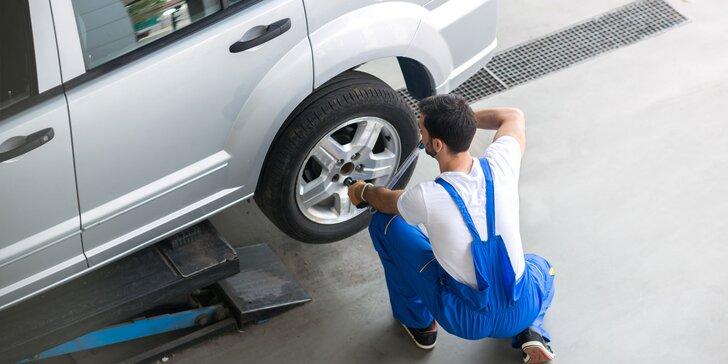 Kompletní přezutí pneumatik včetně závaží a dohuštění i prohlídka vozidla