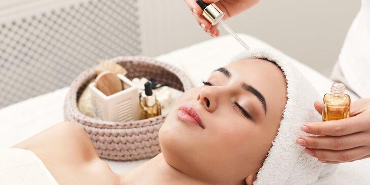 Kosmetické ošetření pleti i s aroma masáží, maskou či remodelling sérem