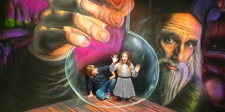 Dvakrát větší Muzeum fantastických iluzí: zažijte kouzla na vlastní kůži, vstup pro jednotlivce i rodiny