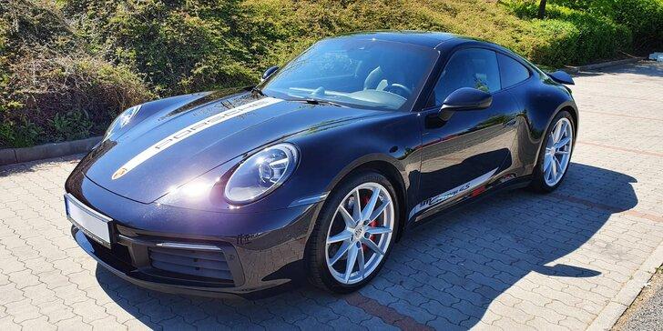 Legendární sporťák Porsche 911 Carrera 4S: 15 či 25 min. spolujízdy i řízení