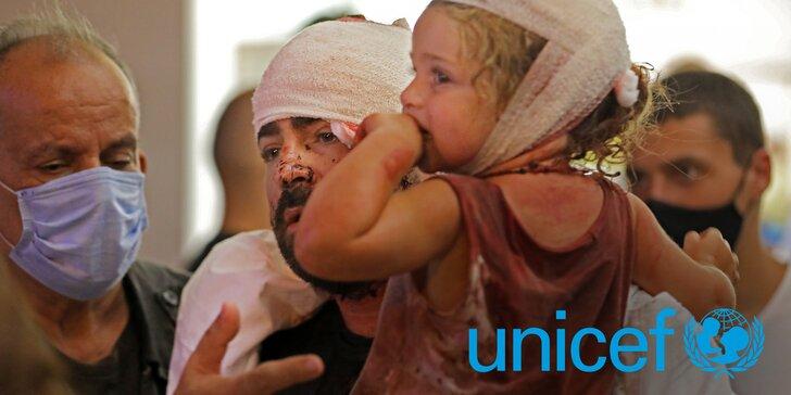 Pomozte s UNICEF zachránit děti v Bejrútu: příspěvky na přikrývky, vodu a zdravotnický materiál