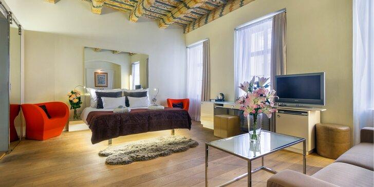 Luxusní pobyt pro dva v 5* hotelu Three Storks na Malé Straně se snídaní