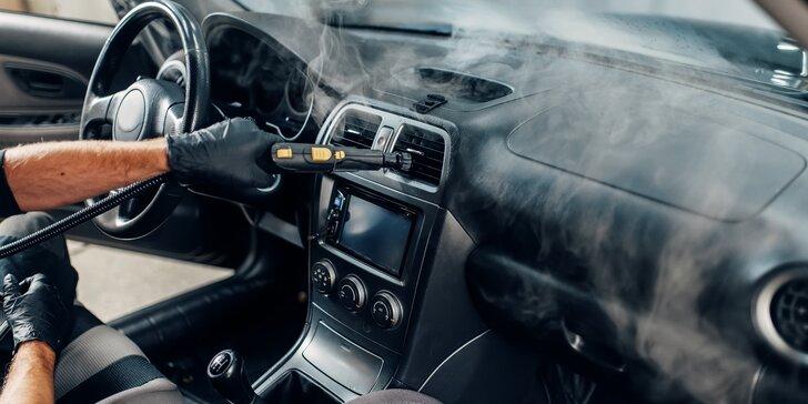 Čištění interiéru vozidla včetně dezinfekce ozonem: malé vozy, kombi i SUV