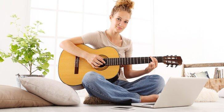 Online kurzy hraní na kytaru: pro začátečníky i pokročilé na 7, 30 a 60 dní
