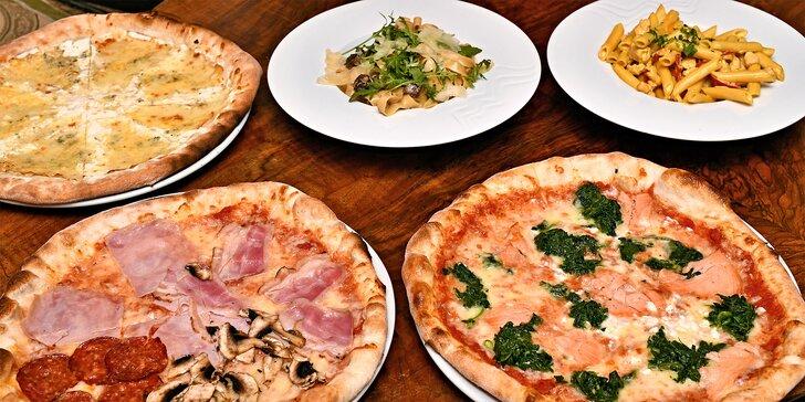 Pravá italská pizza nebo pasta blízko Václavského nám.: jídlo podle výběru pro 1 nebo 2 osoby