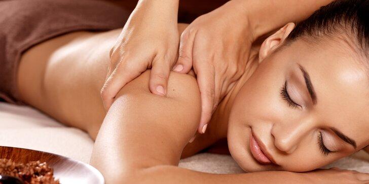 Masáž zádového svalstva a procedury dle výběru