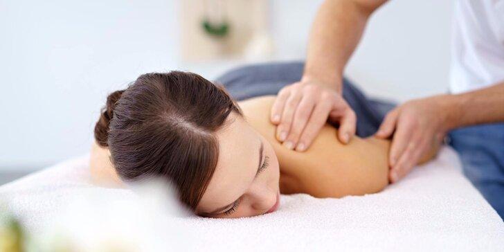 Skandinávská nebo protimigrénová masáž v délce 60 minut