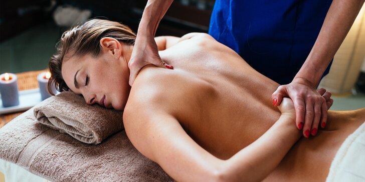60 nebo 120 minut relaxace: thajská, olejová i romantická párová masáž