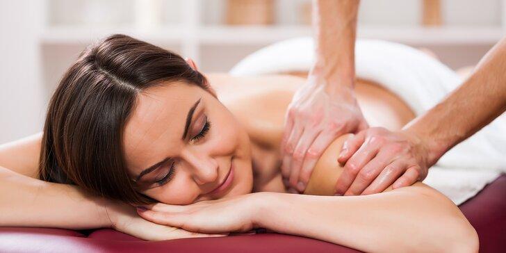 90min. čínská masáž tuina: jemné uvolnění šíje a ramen nebo bederní páteře a nohou