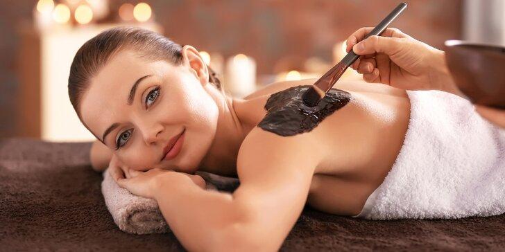 Čokoládová masáž zad a šíje i s možností peelingu a zábalu
