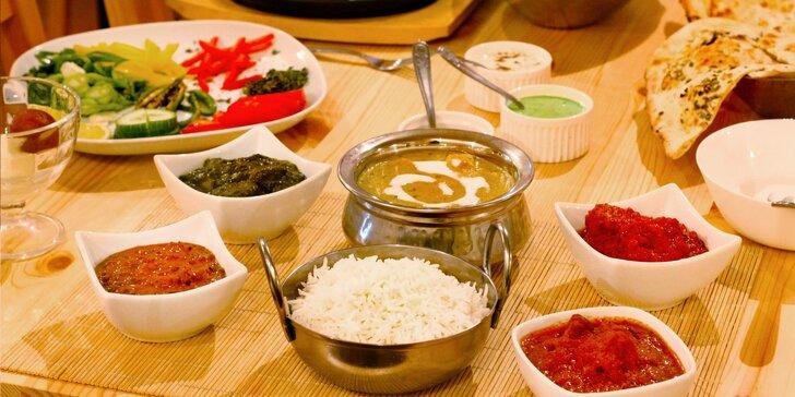 Orientální speciality bengálského šéfkuchaře: hlavní jídlo i 3chodové menu pro pár či čtyřčlennou partu