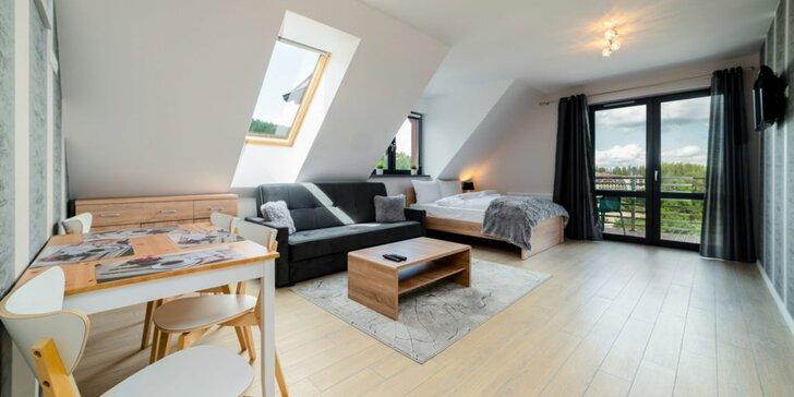 Odpočinkový pobyt v moderním apartmánu v polských Krkonoších až pro 4 osoby
