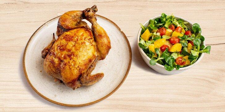 Combo menu: 1/4 nebo i celé kuře se salátem na Smíchovské náplavce