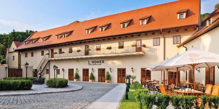 Historický hotel v blízkosti Strahovského kláštera: snídaně a volný vstup do sauny