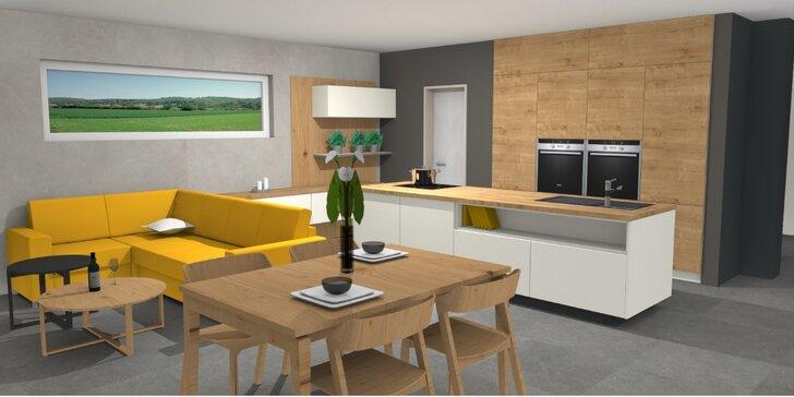 Kuchyň snů: profesionální zpracování 3D návrhu místnosti do 35 m²