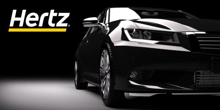 50% sleva na půjčení auta od Hertz: od pátečního do pondělního poledne, neomezené kilometry