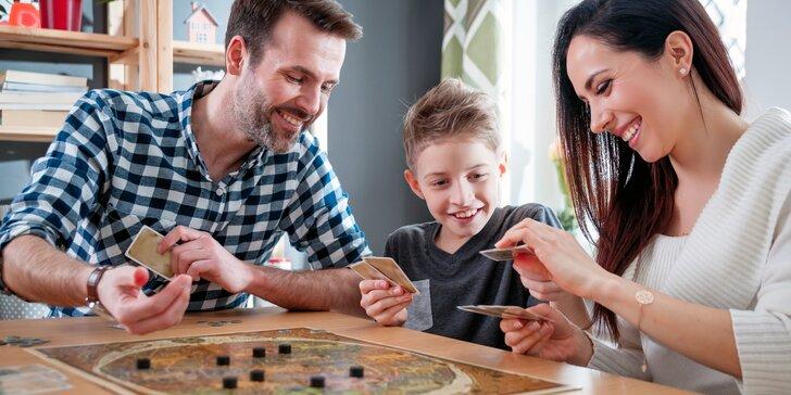 Zábava pro celou rodinu: půjčení 1 nebo 3 deskových her na dva dny i týden