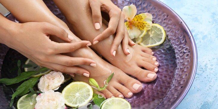 Péče o nohy a ruce: pedikúra a manikúra s gel lakem, Shellacem nebo P-Shine