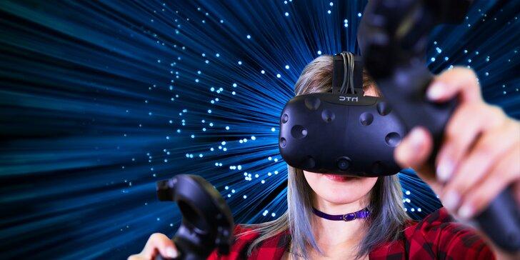 Objevujte nové světy: 1 či 2 hod. ve virtuální realitě HTC Vive až pro 2 hráče