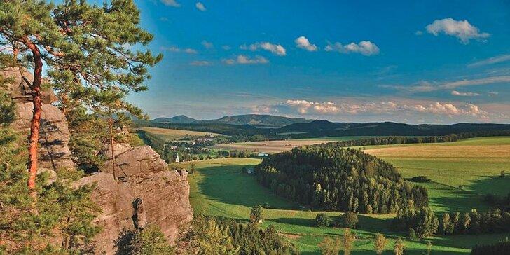 Krásy Adršpachu: dovolená v chatkách až pro 6 osob s polopenzí