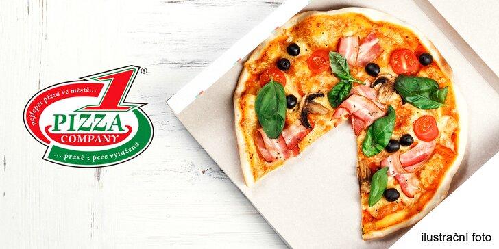 Dvě pizzy podle výběru, dvě kapsy calzone a italská zázvorová limonáda na vyzvednutí nebo rozvoz