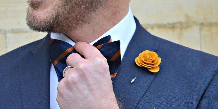 Manžetové knoflíčky, ozdoba do klopy i set pro pravého gentlemana