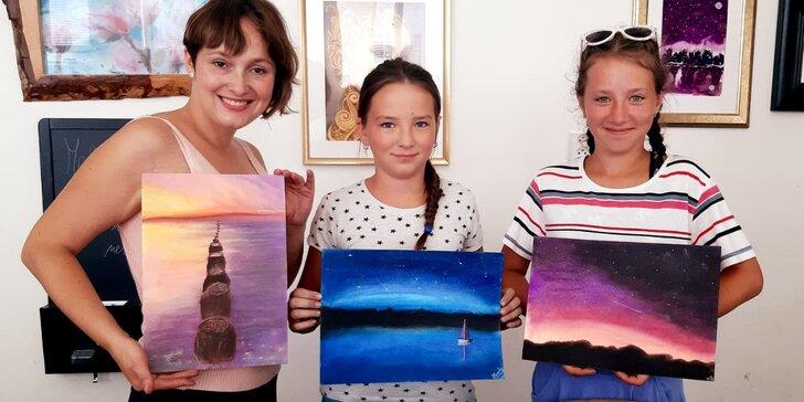 Výtvarné kurzy: workshop koláže i suchý pastel