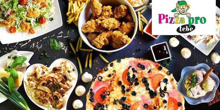 Pizza pro tebe: otevřené vouchery na celé menu včetně nápojů, 250 až 1000 Kč